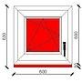 60x60 cm-es bukó-nyíló műanyag ablak