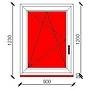 90x120 cm-es bukó-nyíló műanyag ablak