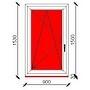 90x150 cm-es bukó-nyíló műanyag ablak