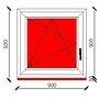 90x90 cm-es bukó-nyíló műanyag ablak